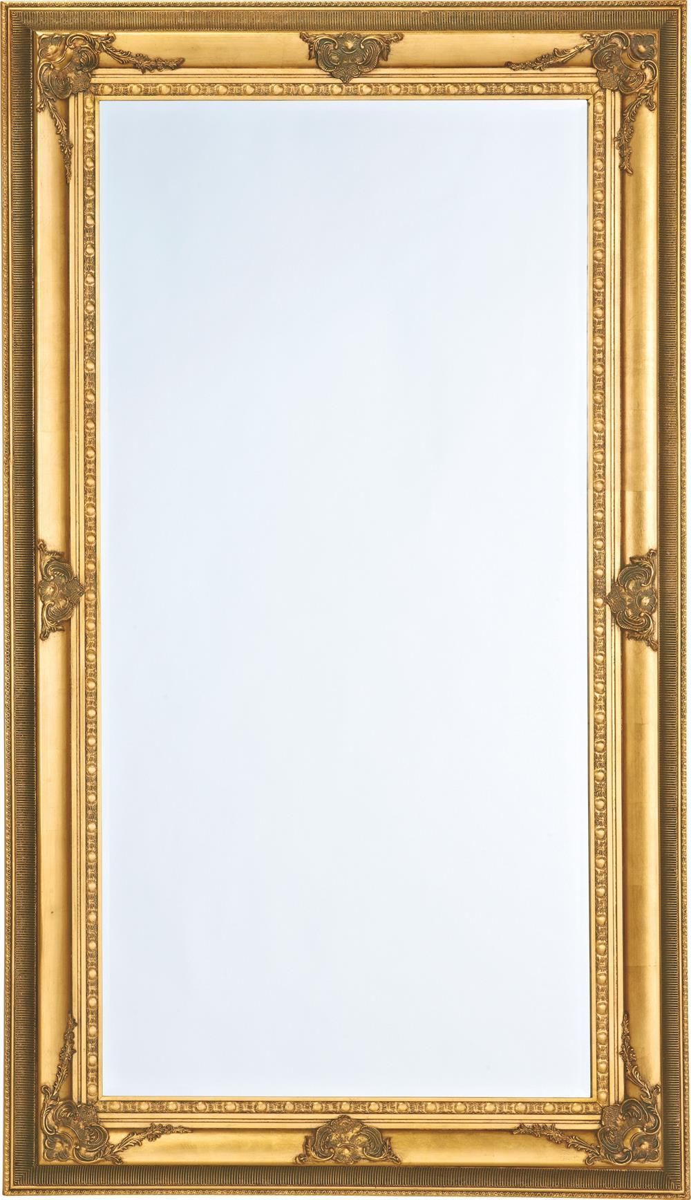 Picture of: Stort Facetslebet Guld Spejl Antik Patineret Ramme 103x178cm
