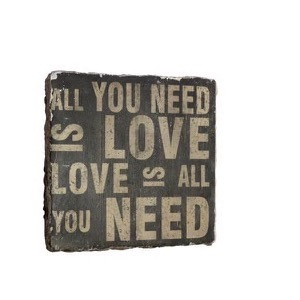 Skilt polyresin 38x38cm All You Need Is Love - Se flere Skilte og Spejle