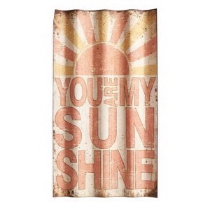 Bølgeformet metal skilt 37x66cm You Are My Sunshine