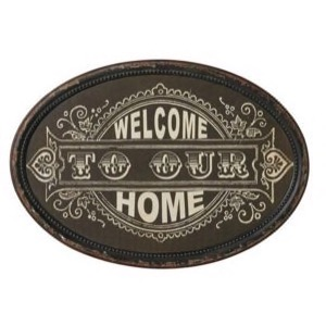 Metal skilt 50x35cm Welcome To Our Home