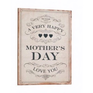 Antik look Træ skilt 30x40cm A Very Happy Mothers Day