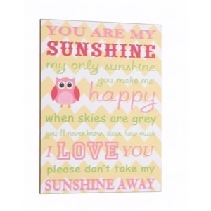 Antik look Træ skilt 30x40cm You Are My Sunshine - My Only Sunshine