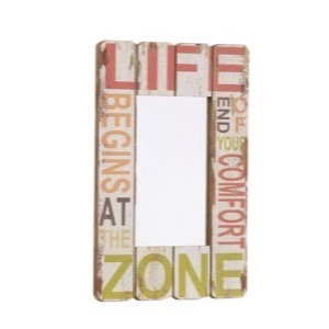 Spejl MDF Life Begins At The End Of Your Comfort Zone 40x60cm