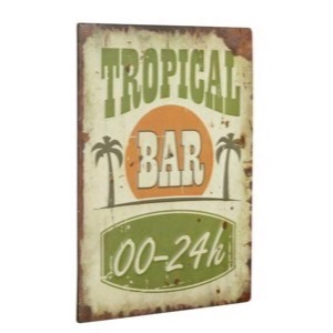 Metal skilt 30x40cm Tropical Bar 00-24h