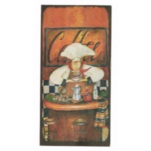 Magnet 5x10cm Orange Chef Coffee