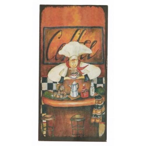 Kok Gra Bla : Magnet 5x10cm Orange Chef Coffee  Alt i Magneter og Spejle