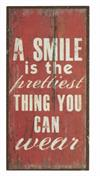 Magnet skilt 5x10cm A Smile Is The Prettiest Thing
