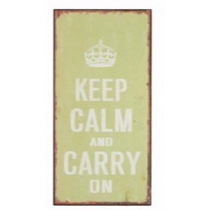 Magnet skilt 5x10cm Keep Calm and Carry On