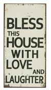 Magnet skilt 5x10cm Bless This House