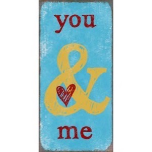 Magnet skilt 5x10cm You And Me