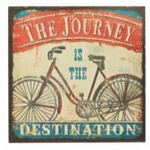 Magnet 7x7cm The Journey Is The Destination