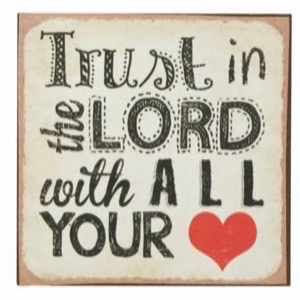 Magnet 7x7cm Trust In The Lord