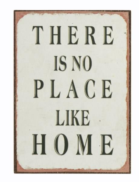 magnet 7x7cm there is no place like home alt i magneter. Black Bedroom Furniture Sets. Home Design Ideas