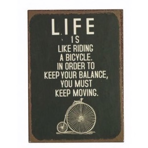 Magnet 5x7cm Life Is Like Riding A Bicycle