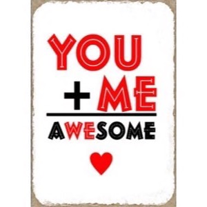 Magnet 5x7cm You + Me Awesome