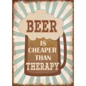 Magnet 5x7cm Beer Is Cheaper Than Therapy