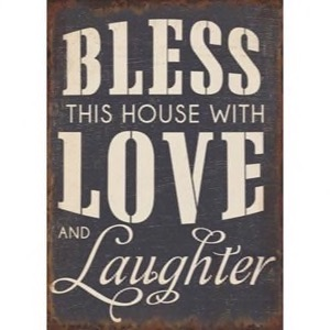 Magnet 5x7cm Bless This House With Love And Laughter
