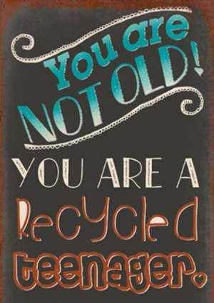 Magnet 5x7cm You Are Not Old You Are A Recycled Teenager - Se flere Magneter og Spejle