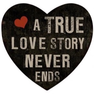 Magnet 8x8cm A True Love Story Never Ends