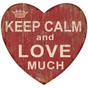 Magnet 8x8cm Keep Calm And Love Much