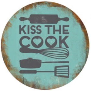 Magnet 8x8cm Kiss The Cook