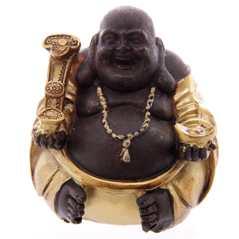 Buddha 190a happy figur h 5cm se flere buddha figurer for Buddha figur