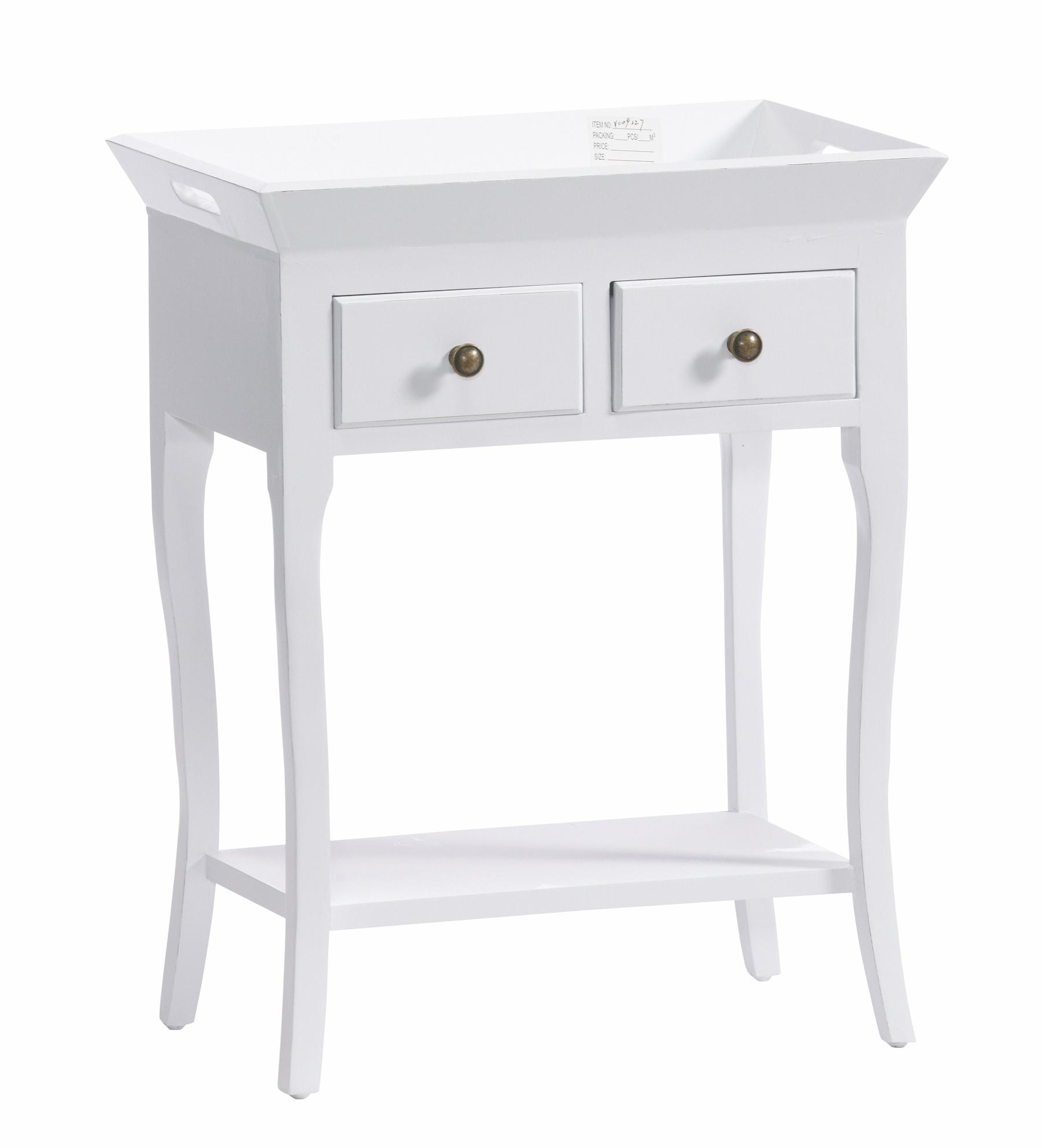 Mega Hvidt konsolbord 60x68x35cm - Se Hvide møbler & Spejle BZ95