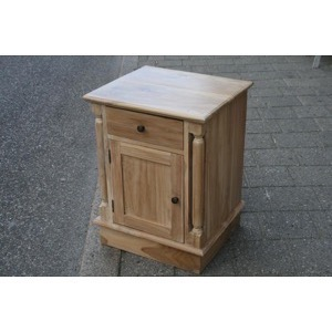 Sengebord massiv teak whitewash 45x60x40cm