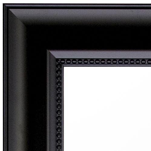 spejl med sort ramme Facetslebet sort spejl 5371 matsort let barok ramme 70x90cm spejl med sort ramme