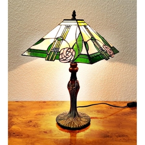 Tiffany bordlampe Pyramide DA147