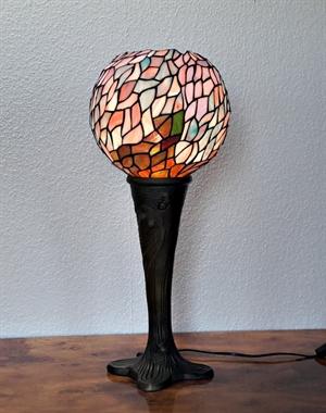 59f3dc0eb66 Tiffany bordlampe DP34 Grøn Palme og special fod - Se Tiffany lamper